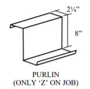 steel building frame purlin